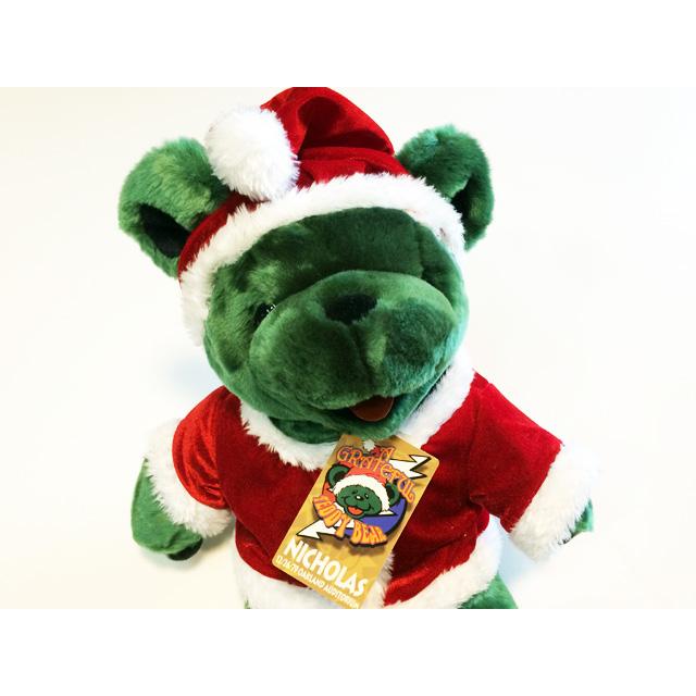 14 INCH PLUSH BEAR Nicholas 14 INCH NICHOLAS 14 inch grateful dead bomber /  Rainbow Christmas gift Santa Claus plush