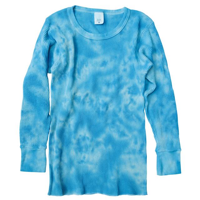 Harvest Market Tie Dye Thermal Blue And Long Sleeve Long Sleeve