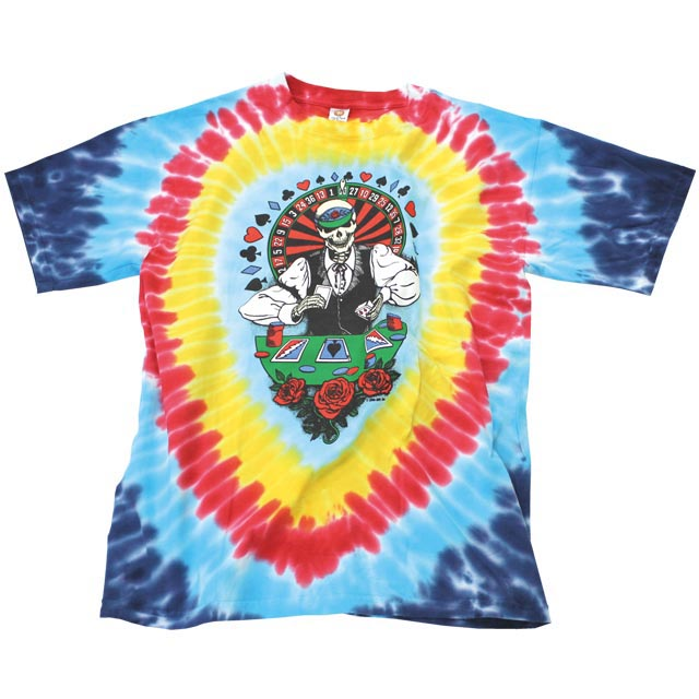 Dealer grateful dead tie dye T shirt /GRATEFUL DEAD / grateful dead / official / skeleton / skull / Casino /DEALER GD TD T
