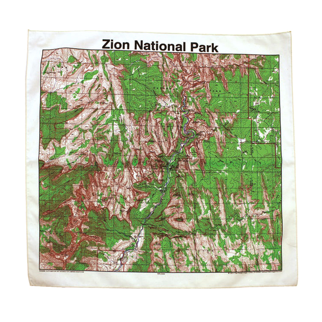 HARVEST MARKET: ☆ reviews ☆ Zion National Park Toppo map bandana ...