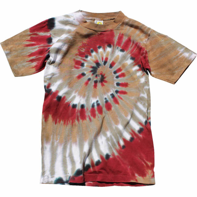 Spiral tie dye T shirts and other /SPIRAL TIE-DYE T 6 T type  RED/SAGE/GOLD/TURQUOISE/CRANBERRY/RAINBOW SPIRAL