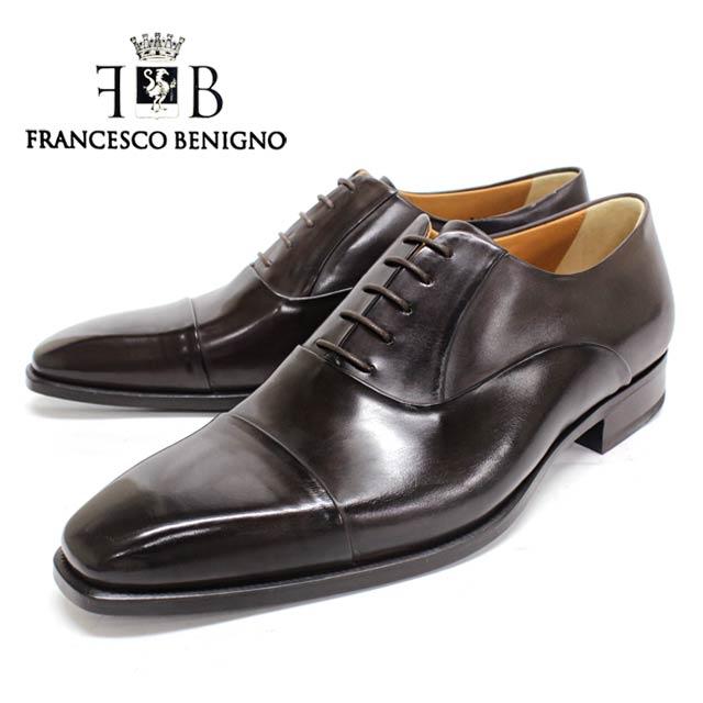 FRANCESCO BENIGNO フランチェスコベニーニョ 3608 D.BROWN ダークブラウン 内羽根 ストレートチップ ビジネスシューズ こげ茶 レザーソール マッケイ メンズ 本革 革靴 靴 ビジネス 紳士靴 ドレスシューズ イタリア製 送料無料