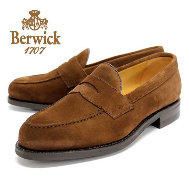 【送料無料】BERWICK バーウィック 9628 BROWNSUEDE ブラウンスエード ローファー コインローファー カジュアルシューズ グッドイヤーウェルト製法 本革 革靴 メンズ 通販 harvys ハービーズ