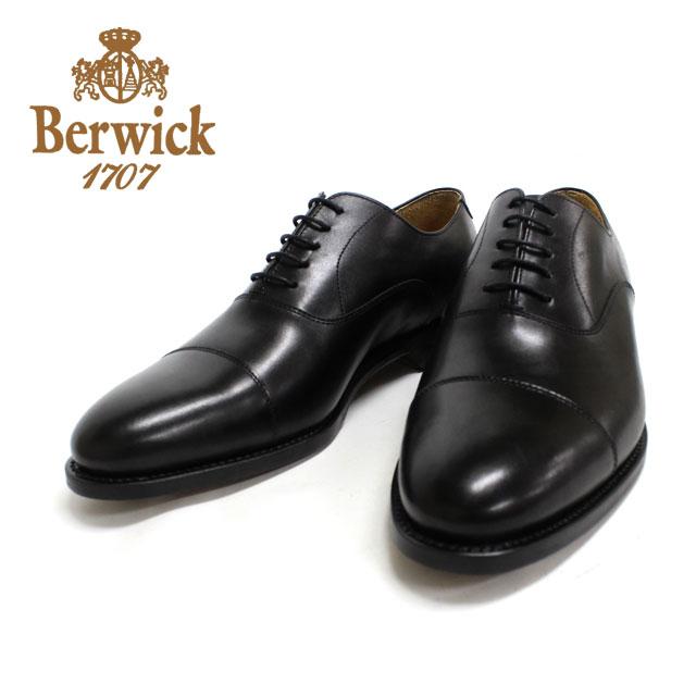 BERWICK バーウィック 3010 BLACK ブラック ストレートチップ グッドイヤーウェルト製法 本革 革靴 内羽根 ビジネスシューズ フォーマル 黒 メンズ スペイン製【送料無料】