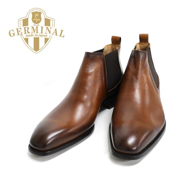 GERMINAL ジェルミナル 8511 BROWN ブラウン サイドゴアブーツ 本革 革靴 黒 メンズ ドレス ビジネスシューズ フォーマル 紳士靴 ショートブーツ 【日本製】【送料無料】