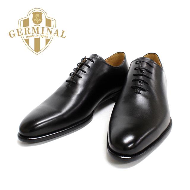 【送料無料】GERMINAL 8516 ホールカット プレーントゥ 本革 革靴 ビジネスシューズ フォーマル ブラック 黒 メンズ 通販 harvys ハービーズ