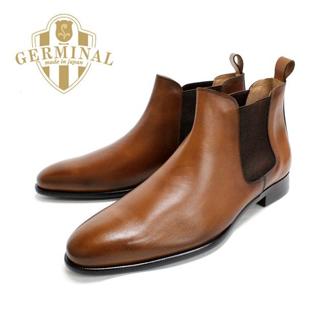 GERMINAL ジェルミナル 8517 BROWN ブラウン サイドゴアブーツ 本革 革靴 茶色 メンズ ドレスシューズ 紳士靴 ビジネスシューズ フォーマル 結婚式 【送料無料】【日本製】