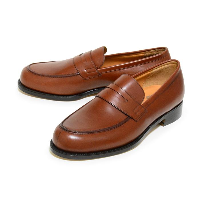 【送料無料】【日本製】【九分仕立て】IDATEN ローファー 本革 ビジネスシューズ ブラウン 革靴 茶 メンズ 通販 harvys ハービーズ