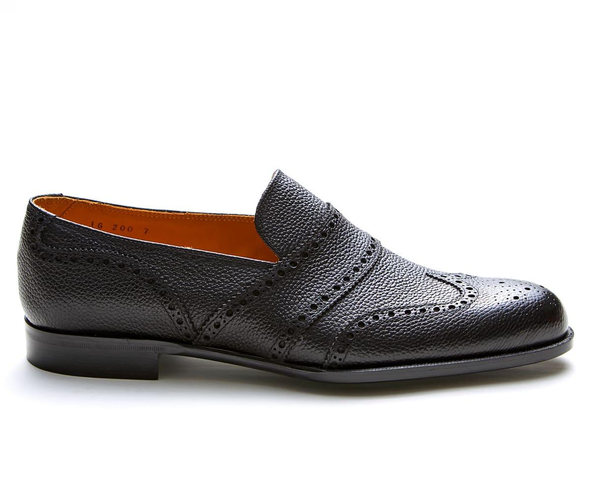 タイドアップしたドレススタイルからカジュアルスタイルまで幅広くお履き頂けるウイングチップローファー 【new】 Iugen イウゲン | IG200 ウイングチップローファー メンズ 紳士靴 ビジネスシューズ ブラック 黒 本革 革靴 靴