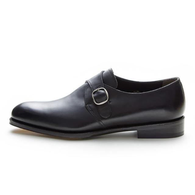 NEWYORKER FOOTWEAR ニューヨーカー フットウェア グッドイヤー・ウェルテッド NY027 BLACK 黒 ブラック プレーントゥ シングルモンクストラップ ドレスシューズ レザーソール メンズ 紳士靴 ビジネスシューズ 本革 革靴 靴 【送料無料】