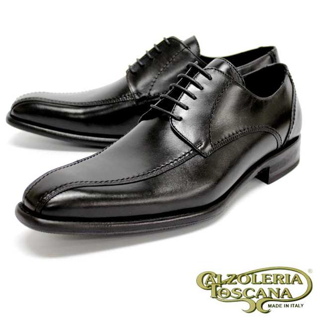 Calzoleria Toscana カルツォレリア トスカーナ 3109 BLACK 黒 外羽根 スクエアトゥ ビブラムソール メンズ 紳士靴 ビジネスシューズ 本革 革靴 靴 イタリア製【送料無料】