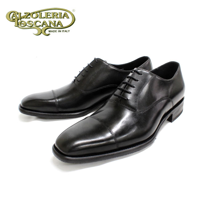 Calzoleria Toscana カルツォレリア トスカーナ a792(NERO:ブラック)内羽根 ストレートチップ 本革 革靴 黒色 メンズ ビジネス = 送料無料 =【イタリア製】