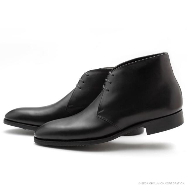 UNION IMPERIAL ユニオン・インペリアル プレステージ U1120 BLACK 黒 チャッカブーツ ショートブーツ ドレスシューズ ダイナイトソール メンズ 紳士靴 ビジネスシューズ 本革 革靴 靴 日本製【送料無料】