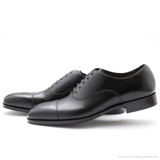 UNION IMPERIAL ユニオン・インペリアル プレミアム U1520 BLACK 黒 ドレスシューズ ストレートチップ 内羽根 メンズ 紳士靴 ビジネスシューズ 本革 革靴 靴 日本製【送料無料】