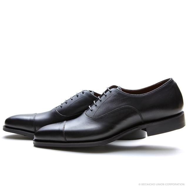 UNION IMPERIAL ユニオン・インペリアル プレステージ U1944 BLACK 黒 内羽根 ドレスシューズ ストレートチップ ダイナイトソール メンズ 紳士靴 ビジネスシューズ 本革 革靴 靴 日本製【送料無料】
