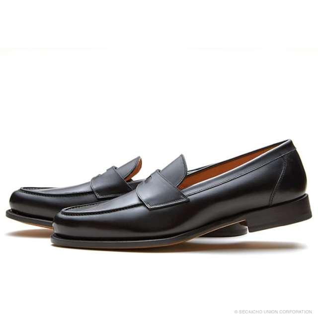 UNION IMPERIAL ユニオン・インペリアル グッドイヤー・ウェルテッド U2004 BLACK 黒 ブラック ローファー レザーソール メンズ 紳士靴 カジュアルシューズ 本革 革靴 靴 【送料無料】