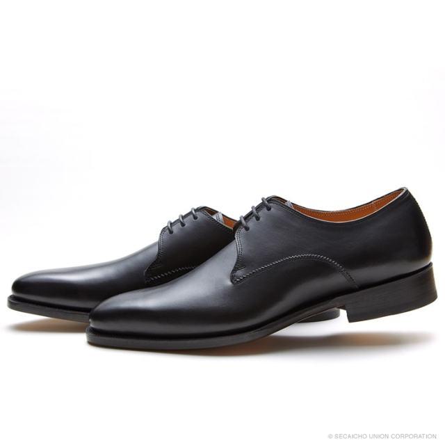 UNION IMPERIAL ユニオン・インペリアル プレステージ U3003 BLACK 黒 プレーントゥ 外羽根 ドレスシューズ レザーソール メンズ 紳士靴 ビジネスシューズ 本革 革靴 靴 日本製【送料無料】