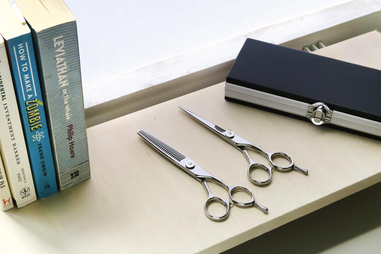 【数量限定】HM5.5inch シザー&セニングセット 完全プロ仕様 当店24,000円相当の品 美容 ハサミ スキバサミ【送料無料】