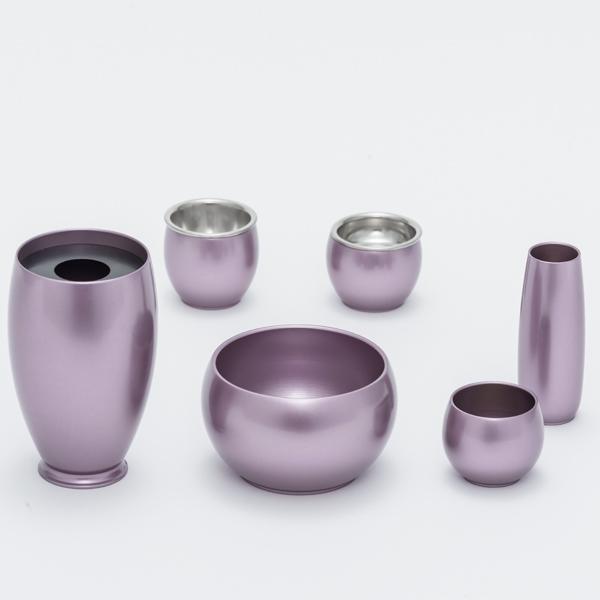 六具足 彩り 丸型 紫【送料無料】