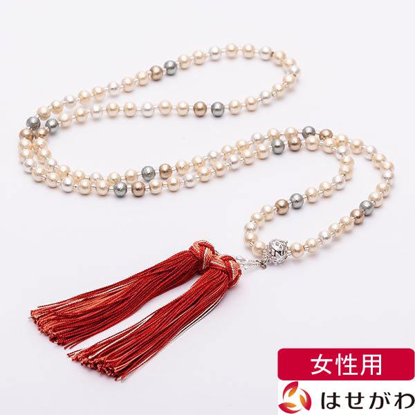 《店内全品P3倍》数珠 トレンド ネックレス ネックレス念珠 おすすめ マルチ はせがわ コットンパール