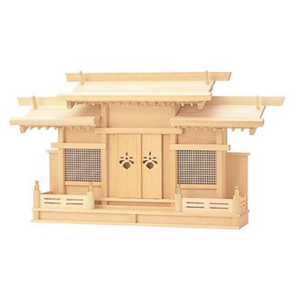 【神棚】神殿 峰 桧【お仏壇のはせがわ】送料無料 ひのき製 ヒノキ製 東濃ひのき