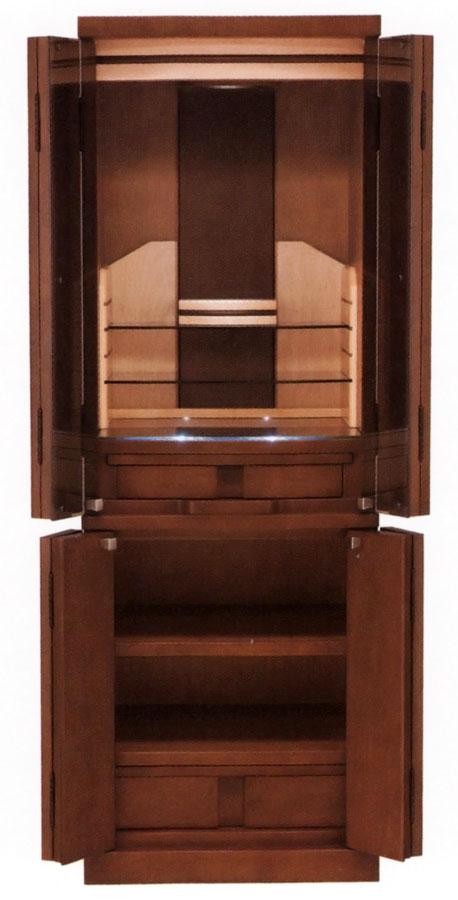 モダン仏壇 床置き型 光とガラスで華麗な仕上がり ネオス ダーク色