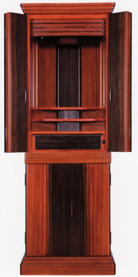 唐木 モダン仏壇 床置き型 ディオン1型 16×50号黒檀と紫檀のコントラスト ディオン1型