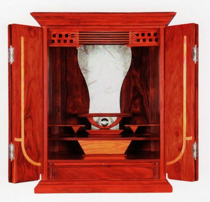上置き型 唐木 モダン唐木仏壇 シルク シルク 14×20号象眼を取り入れたシンプルなデザイン