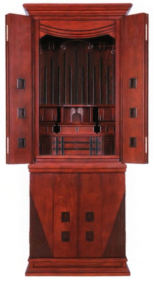 唐木 モダン仏壇 床置き型 アイル 16×45号新しい風を吹き込むスタイリッシュな仏壇 アイル