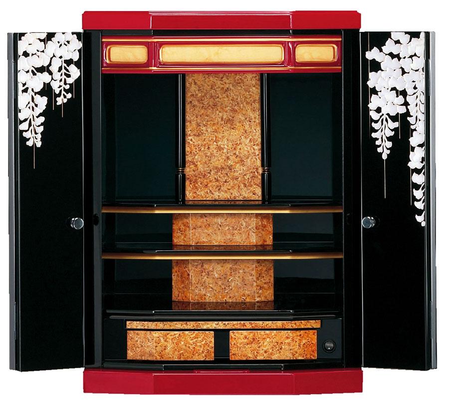 モダン仏壇 上置き型 パープル 14×20号漆芸モダン仏壇