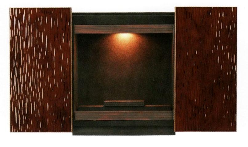 仏壇 上置き型 雅II 蓮華彫仕上げ