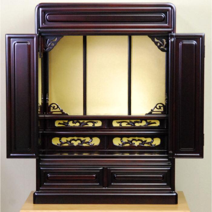 小型仏壇 ミニ仏壇 さくら2型 18号 桜色 木製 国産・日本製 【送料無料】