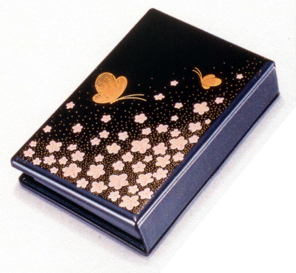 手元供養 遺骨の 供養 分家での 位牌 の代わりに 携帯仏壇 マインドアルテ花と蝶 黒