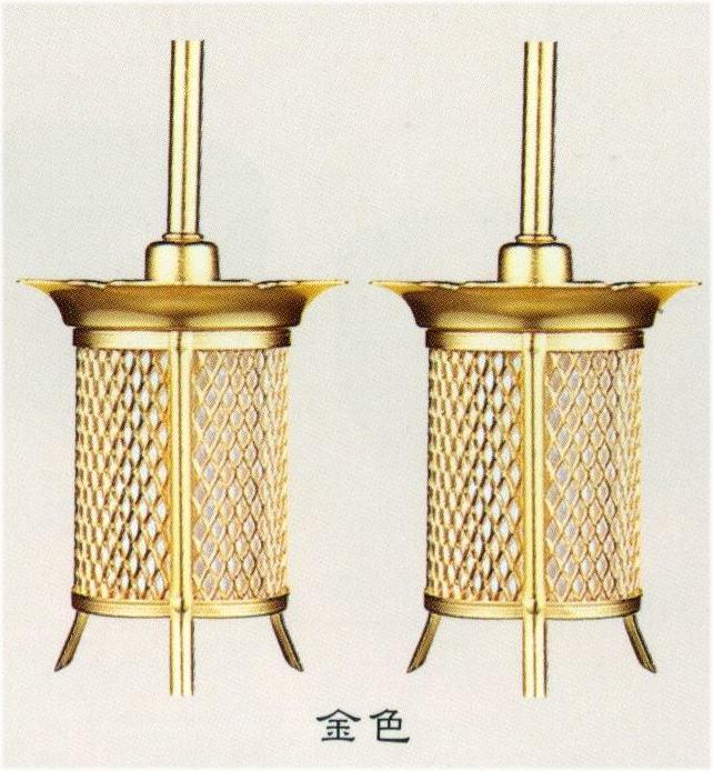 モダン仏具 すみれ吊り 灯篭 LED電装付 金色【小】 1対 【送料無料】