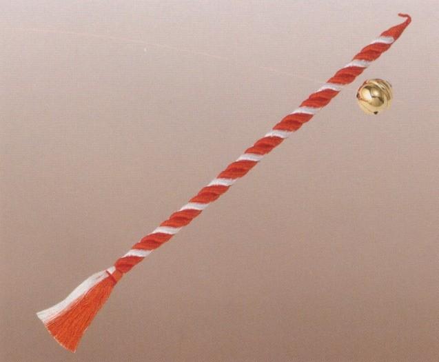 神棚・神具 本坪鈴(直径12センチ)鈴紐(紅白:長さ150センチ) 【送料無料】