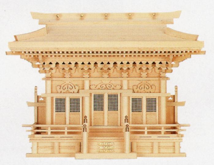 神棚 高級 高殿(背高タイプ)木曽桧 通し屋根マス付き 【送料無料】