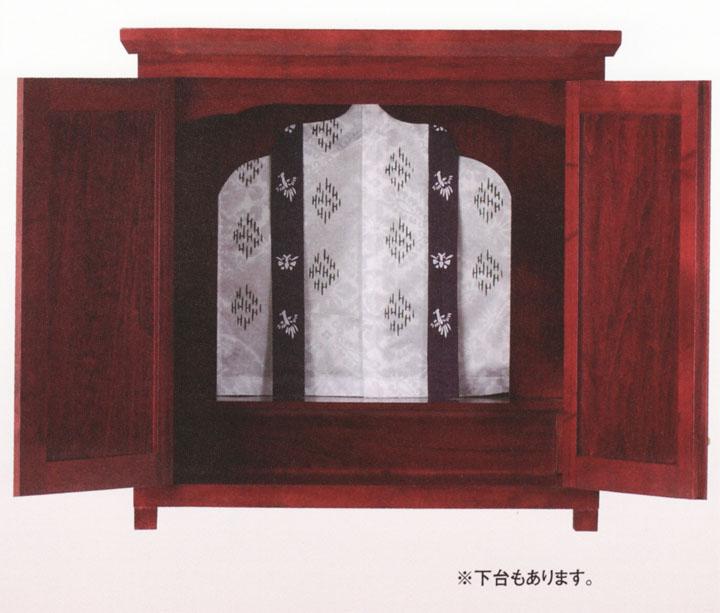 爆安プライス 小型で現代的な モダン 祭壇宮 御霊舎 としてお祀り下さい の 送料無料 ワイン色 幌付 小型 オーラル