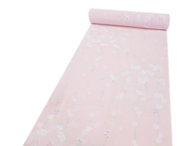 洗える長襦袢反物しだれ桜(ピンク)