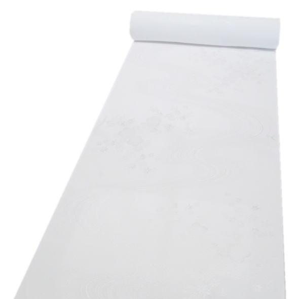 「東レシルック」礼装用長襦袢反物流水に花(白)
