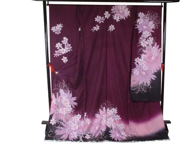振袖乱菊や蘭(紫)