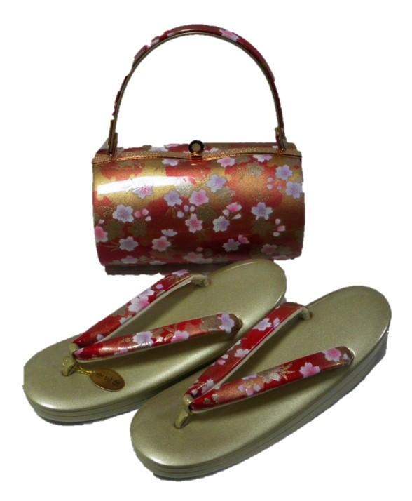 草履バッグセット 2Lサイズ 赤 小花 SEAL限定商品 オンライン限定商品 成人式 送料無料 卒業式 在庫処分 結婚式