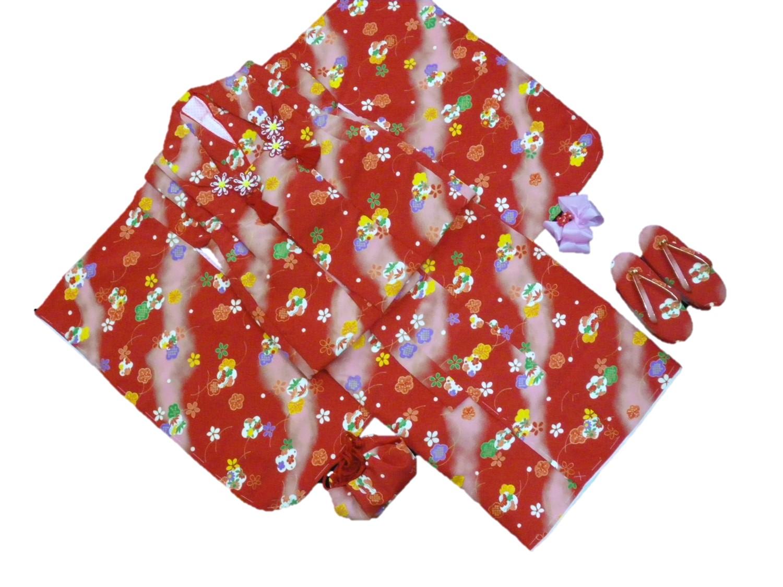 3才被布6点セット【赤地・花柄】【日本製】【3歳】【七五三】【送料無料】