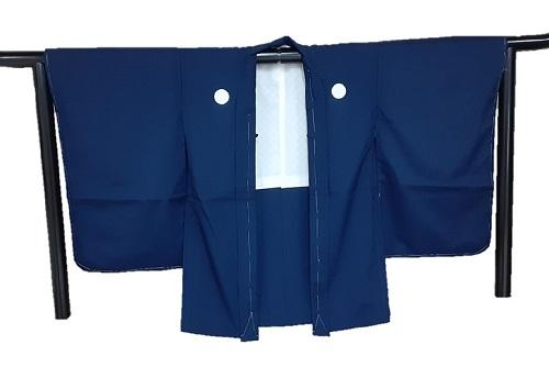 5才羽織単品 紺無地 ポリエステル 人気 数量限定 おすすめ 日本製 家紋入れ付き 5歳 送料無料 七五三 紋入れ後のキャンセル不可