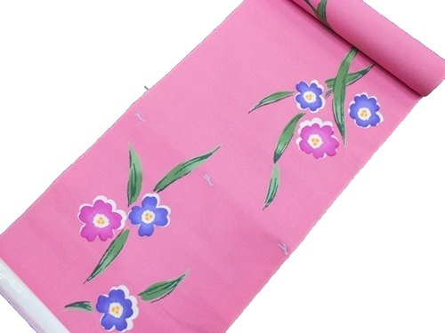 浴衣反物【クレージュ】【ピンク】【クイーンサイズ】【日本製】【送料無料】