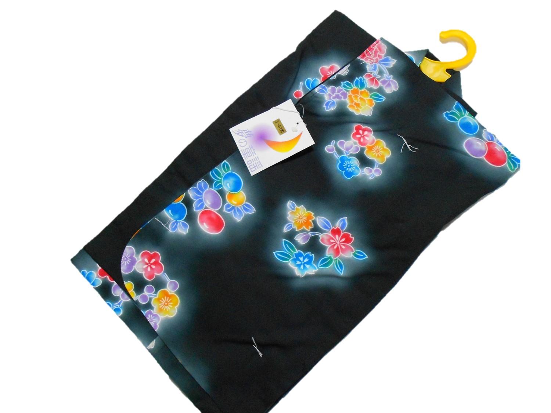 子供浴衣【3~4才用】【90サイズ】【黒地】【日本製】