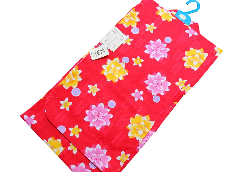 子供浴衣【7~8才用】【120サイズ】【赤】【日本製】