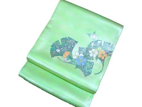 正絹袋帯 作家物 本郷葵虹 日本製 未仕立て 送料無料