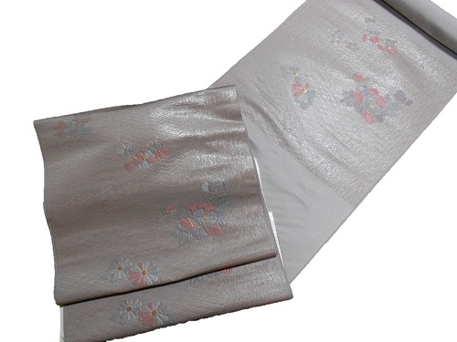 正絹九寸名古屋帯 値下げ 西陣 竹本織物 薄紫 卓出 未仕立て 送料無料 日本製