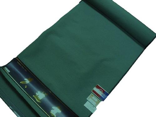 男物シルク・ウール【反物】【グリーン】【日本製】【未仕立て】【送料無料】