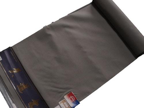 男物シルク・ウール【反物】【チャコールグレー】【日本製】【未仕立て】【送料無料】